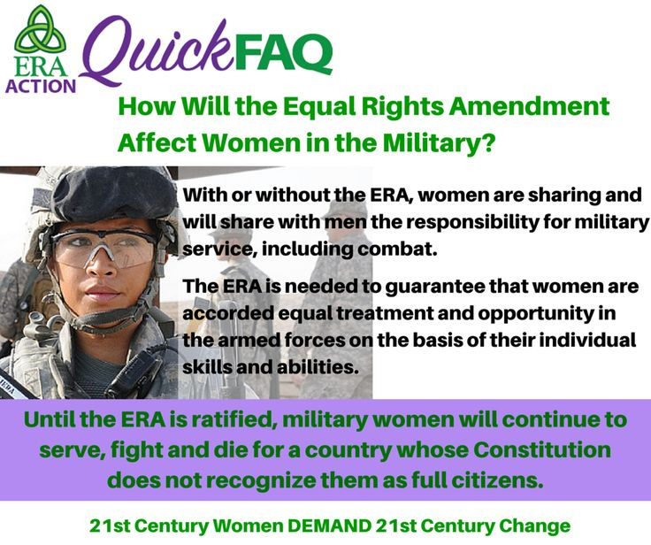 The debate on equality for women in the military