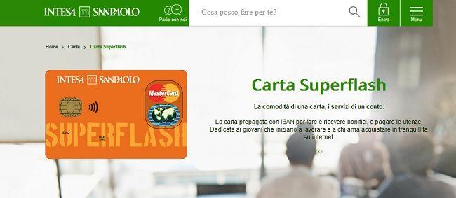Carta SuperFlash Intesa SanPaolo - Carta Cento per Cento