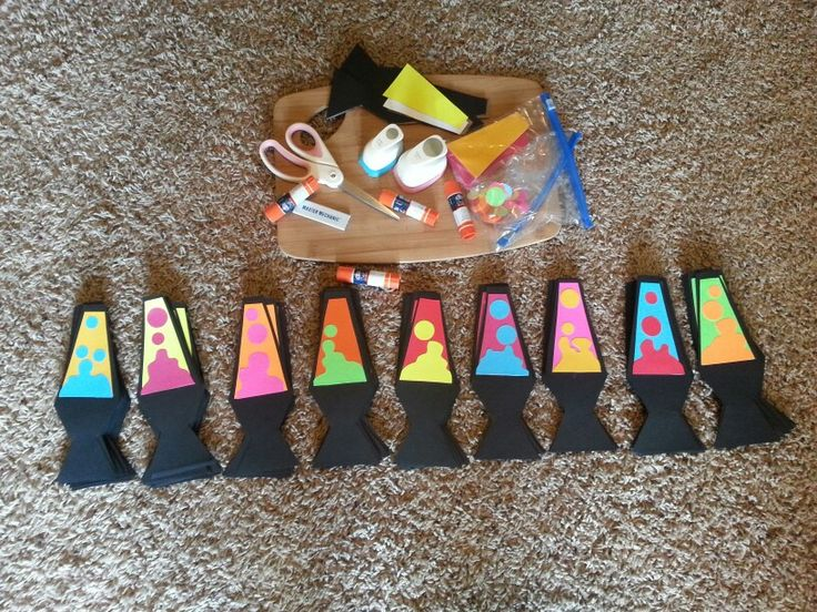 Lava lamp door decs! They were simple, but pretty time consuming since I had to do 150 of them. RA ResLife