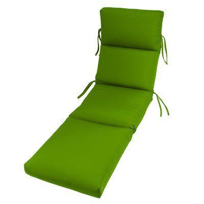 Beachcrest Home Outdoor Sunbrella Chaise Lounge Cushion Fabric: Macaw