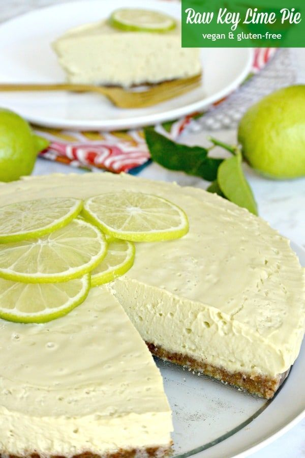 Raw Key Lime Pie is a creamy no-bake dessert. It's vegan, gluten-free, and delicious! It's one of many fabulous recipes from The Blossom Cookbook. #keylimepie #dessert #vegan #glutenfree #nobakedessert via @VeggiesSave