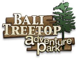 "Bali Treetop Adventure Park - Kids too! 3 tracks for kids starting age 4 - Min height 100cm with hand raised up. @ ""Eka Karya"" Bali Botanica Garden Candikuning, Bali"