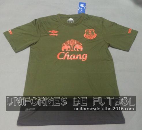 Venta de Jersey tercera para uniforme del Tailandia Everton 2015-16