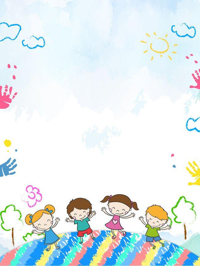 cartoon kids kindergarten opening season poster background psd