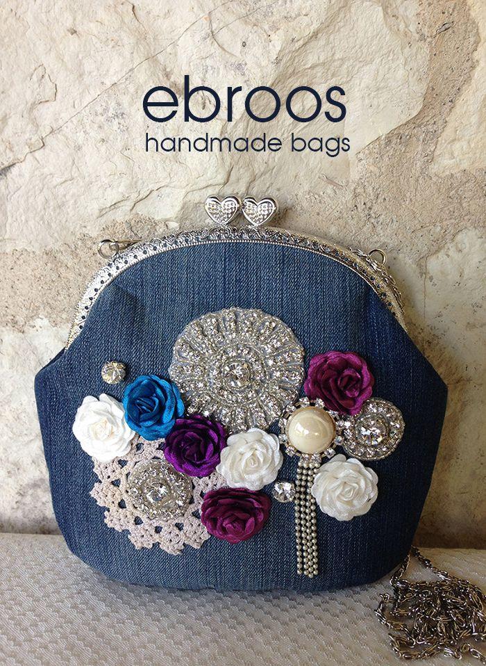 Ebroos handmade jeans bag www.arassta.com