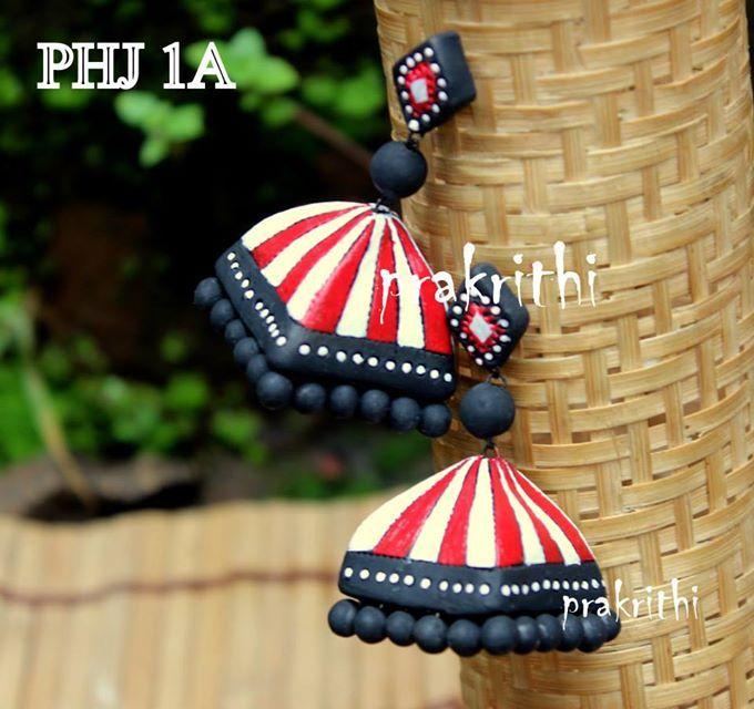 Terracotta earrings.. :)