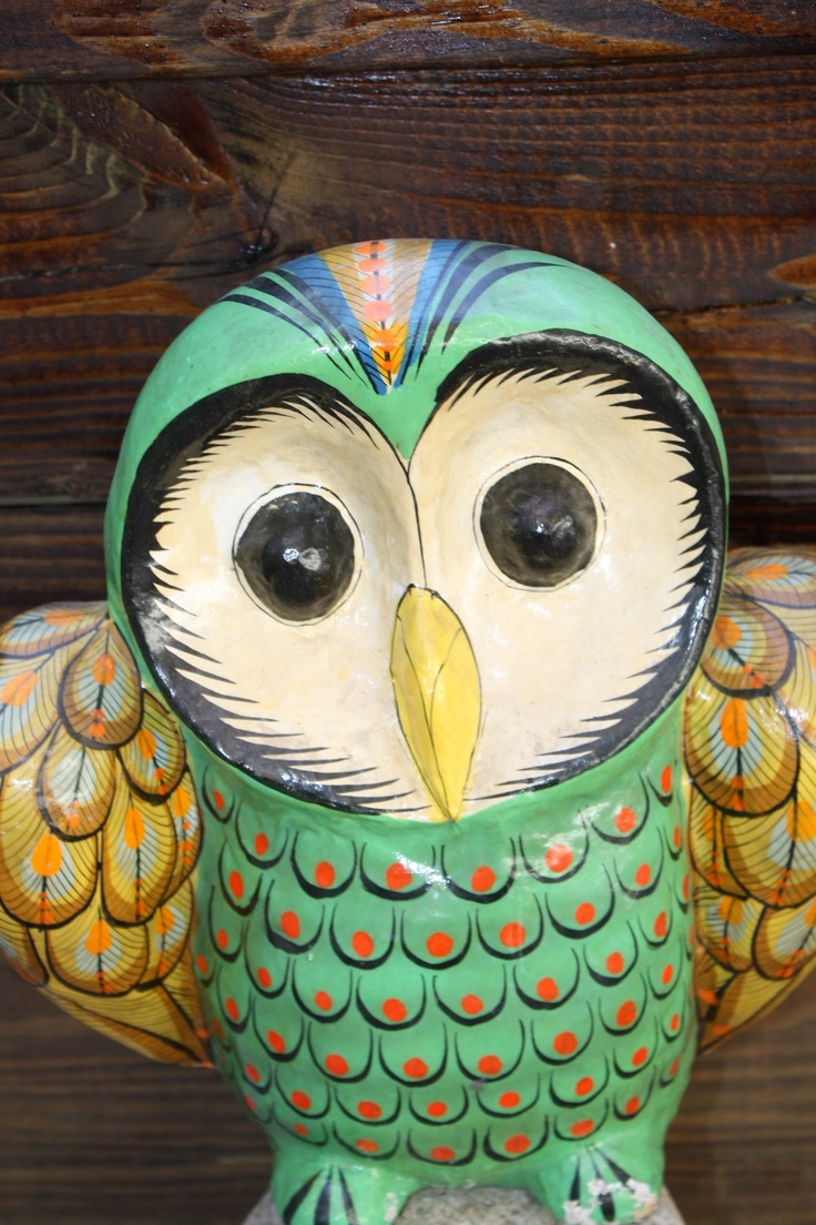 181 best images about owl on pinterest feathers for Diy paper mache owl