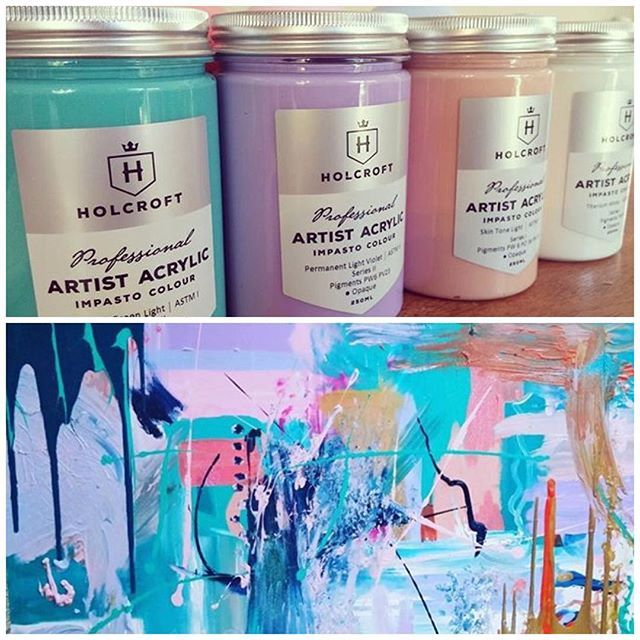 Something beautiful to brighten up your morning! Thank you for sharing @skye.ebony #holcroft #professional #acrylic #paint