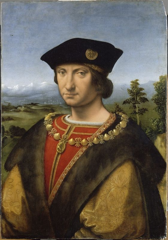 Andrea Solari,also Solario (1460-1524) —  Charles VIII of France, called the Affable  : The Louvre Museum, Paris.  France (561×800)