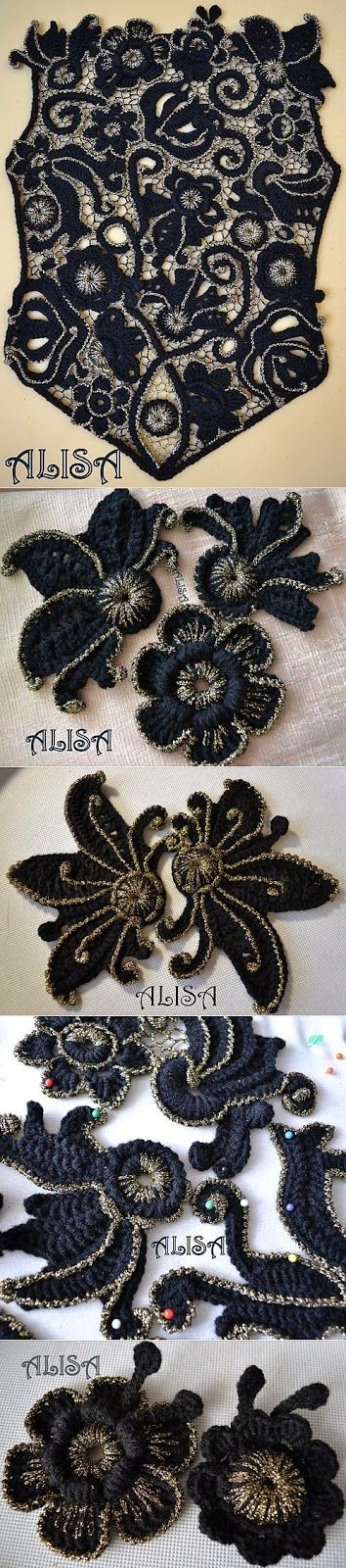 Letras e Artes da Lalá: Crochê Irlandês/Irish Lace (by pinterest, sem receitas) ...crochet inspiration ONLY...