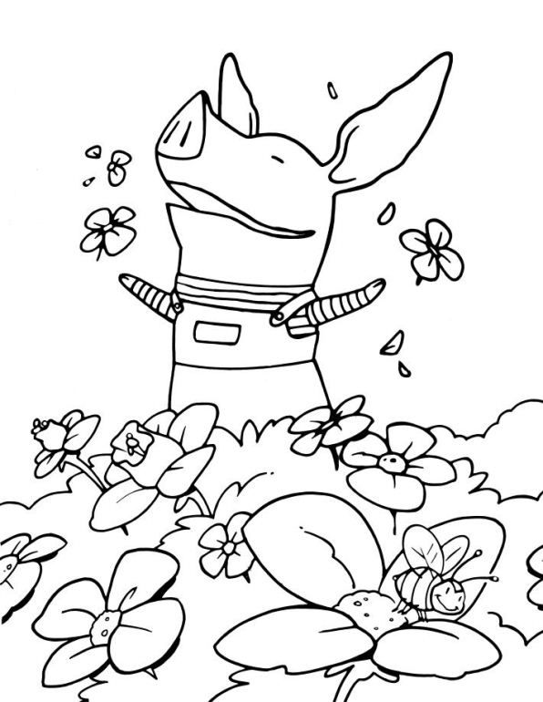coloring page olivia spring - Jungle Junction Coloring Pages
