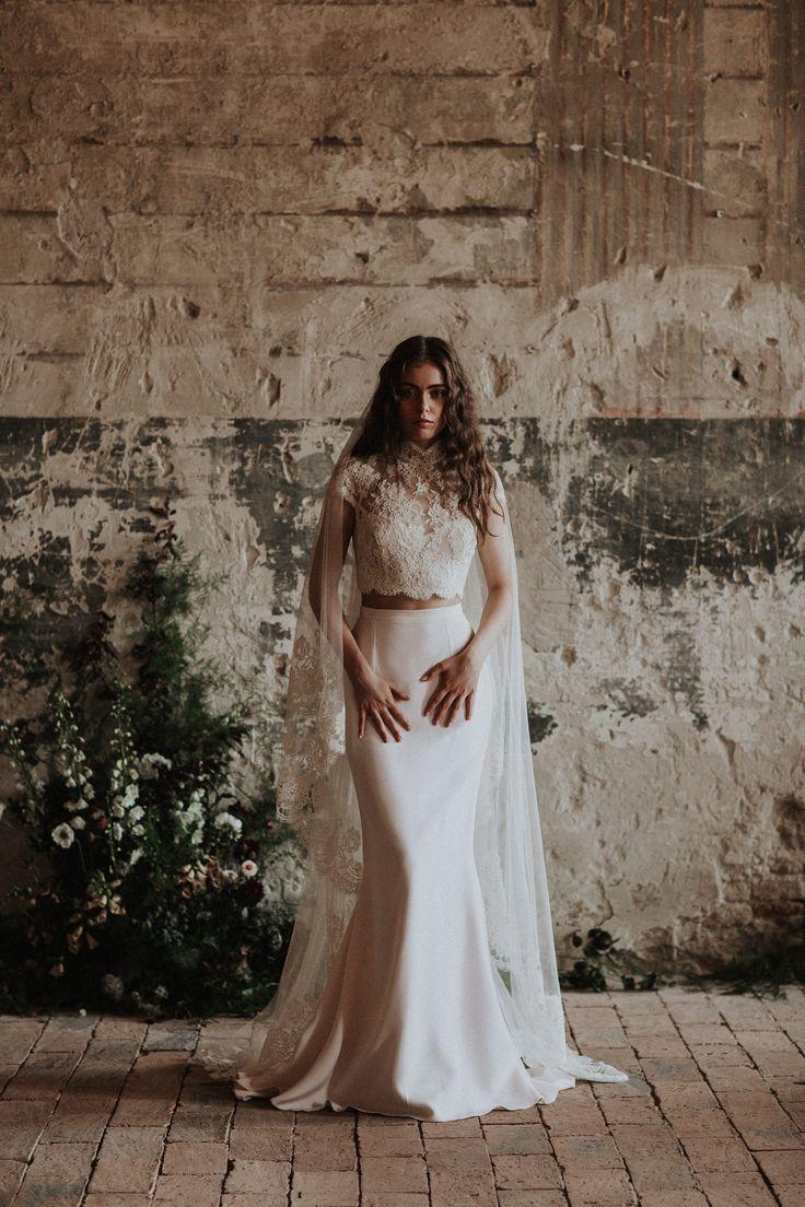 The Dalma top and the Blush skirt / Nora Sarman Bridal / photo Pinewood Weddings