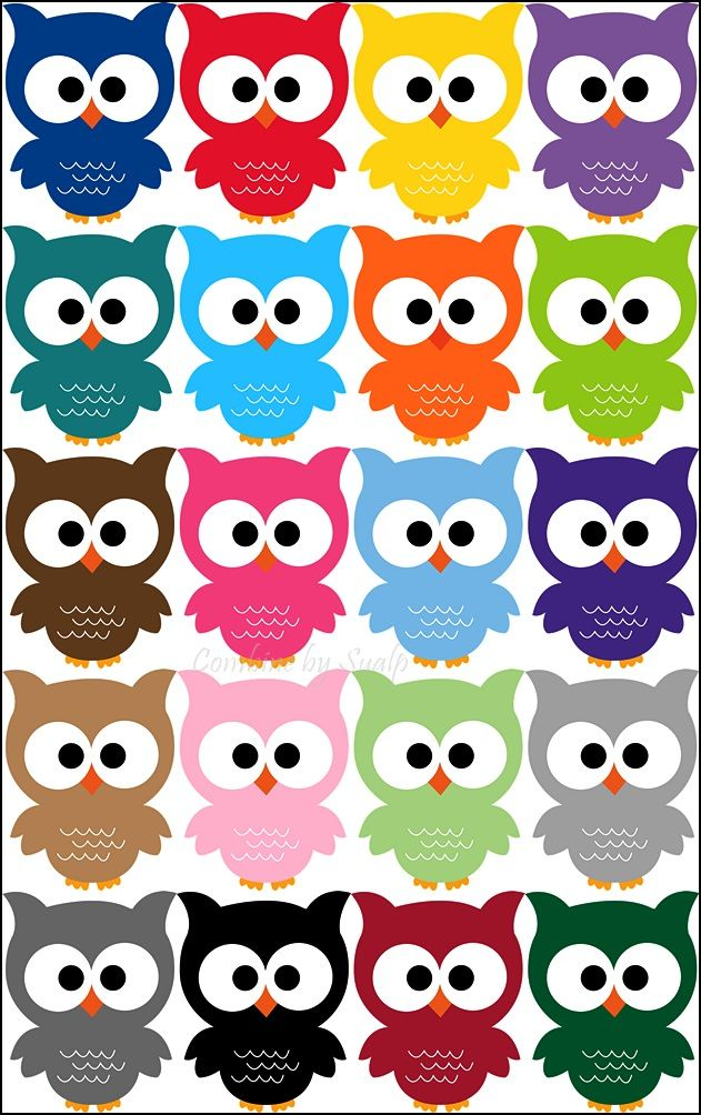 20 ADORABLE Owl Printables! Ohh These are so cute!!! So many colors to choose…