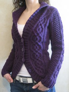 Blackberry Cabled Cardigan by Alexandra Charlotte Dafoe. Somebody knit this for me, please?