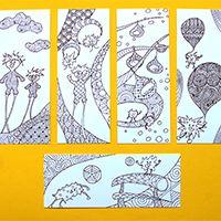 Limimik színező - színezés után könyvjelzőként tudod használni - megvásárolható #színező #rajz #könyvjelző