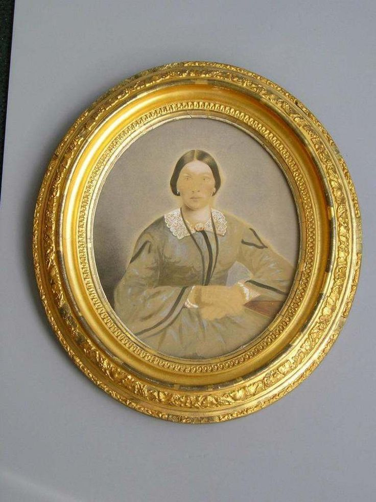 Stunning Antique Aesthetic Eastlake Victorian Deep Oval Picture Frame Lady 10~12 #AestheticMovement
