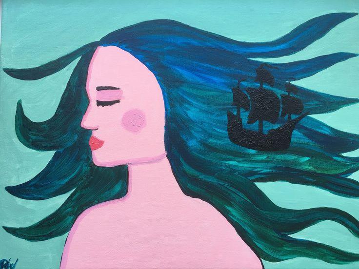 Painting 'Heavy weather' door WissArt op Etsy