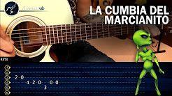 Como tocar La Cumbia del Marcianito 100% Real no fake en Guitarra | Tutorial Punteo TABS - YouTube