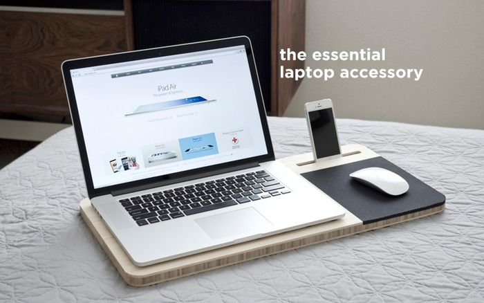 Slate - Mobile AirDesk by Nathan Mummert — Kickstarter Wow, it's such a simple idea/design. And yet, it's pretty awesome.