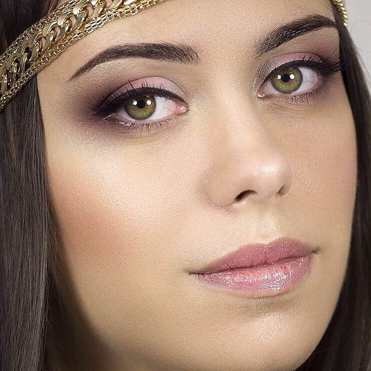 Beauty make up look done using neutral shades.