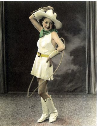 1930s rodeo girl vintage western costume | Cowboys and cowgirls | Pinterest | Vintage cowgirl ...