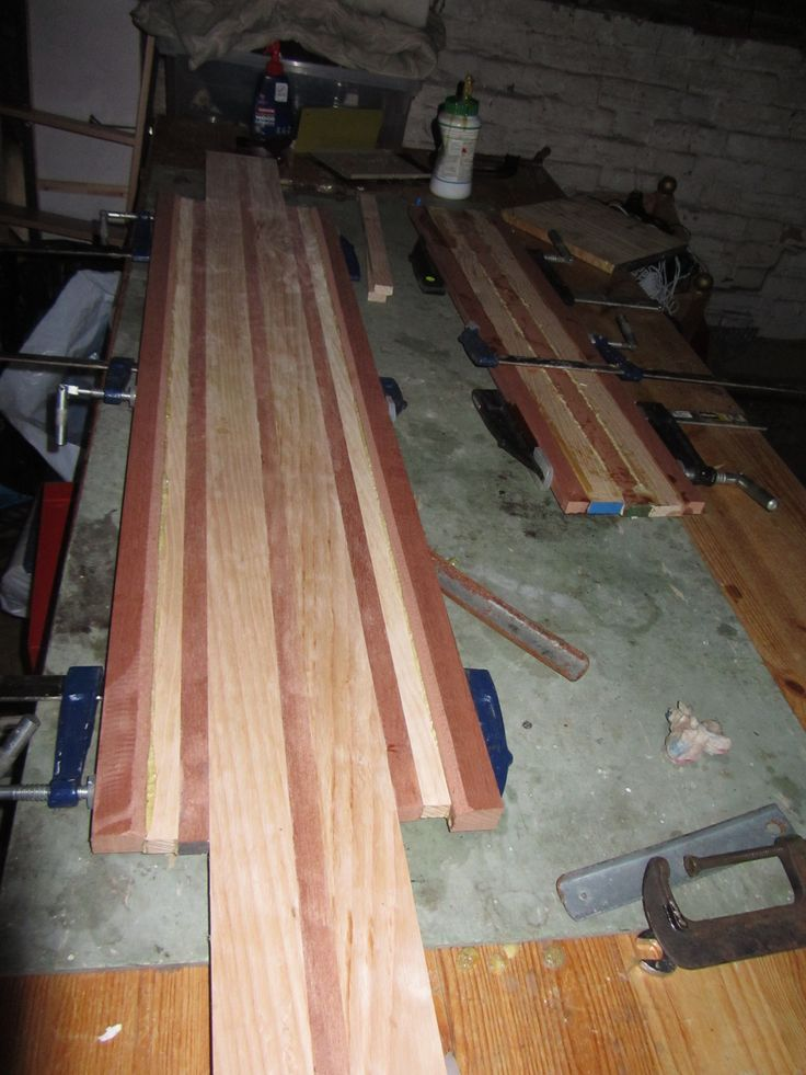 Shaping and laminating Grizboards