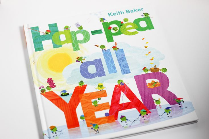 Happy New Year!!!  Hap-pea all Year!!! Is another fun pea  by Keith Baker. Just like his previous book L M N O Pea this book has great rhyming text fun rhythm and makes a great read aloud for toddlers through 1st graders.   Hap-pea All Year is a months of the year concept book and a fun way for kids to learn the months and events/holidays during that month. Definitely #checkitout