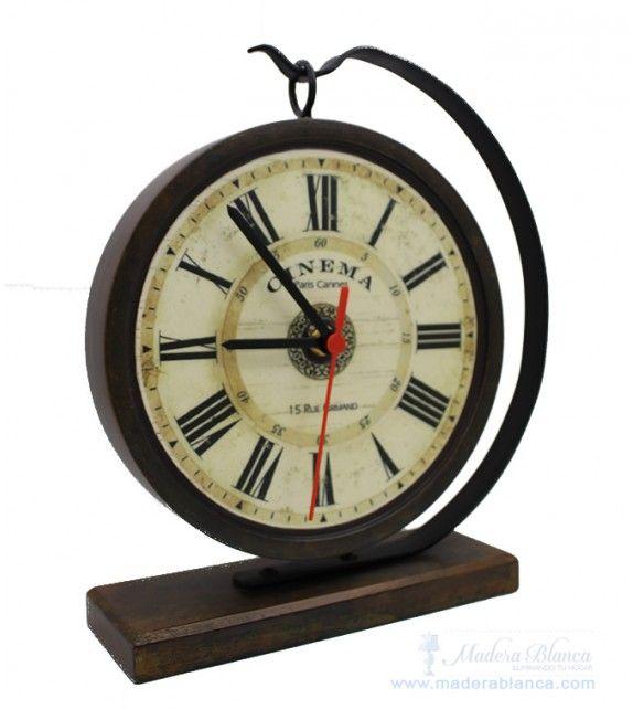 www.maderablanca.com Reloj de mesa