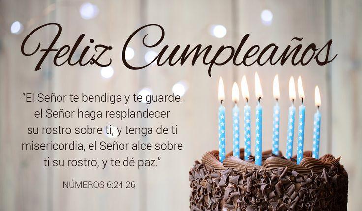 Feliz Cumpleaños Números 6:24-26 Tarjetas