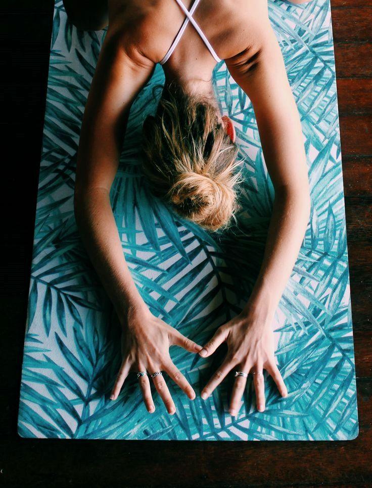 Childs Pose On Bowern Yoga Mat Yogamats Yoga Mat Yoga Yoga Accessories