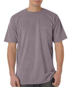 6030 Chouinard Adult Heavyweight Cotton Short-Sleeve Pocket Tee Clay Pgmdye