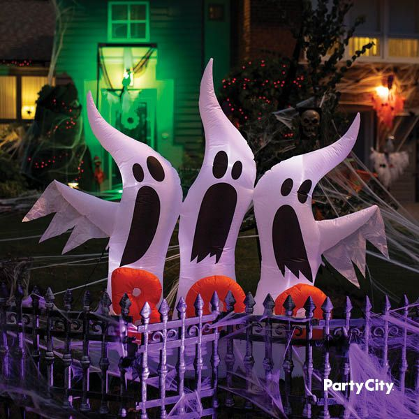 Light Up Inflatable Ghosts 6ft Halloween Outdoor Decorations Haunted House Decorations Halloween Decorations