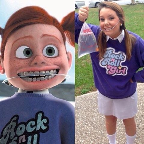 Dress up as Darla from Finding Nemo by following this easy DIY Halloween costume tutorial.