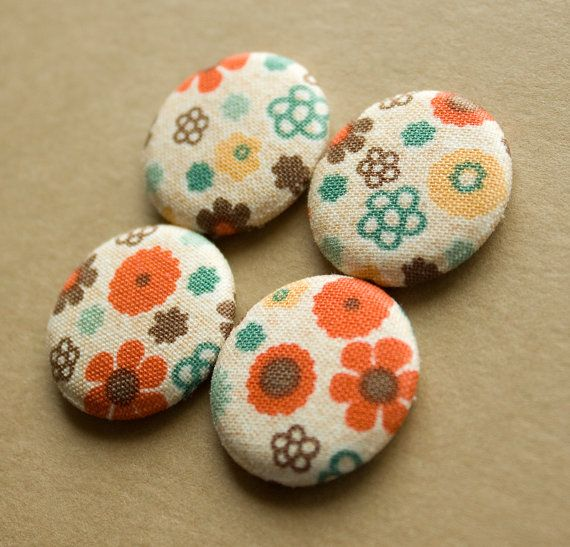 Vintage Floral Magnets  set of 4 by HowlOwl on Etsy.