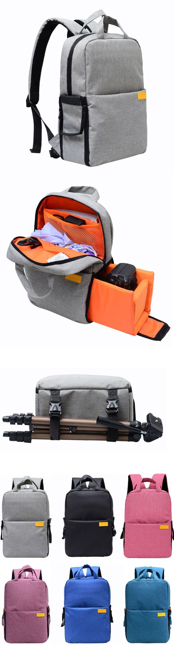 US$53.64+Free shipping. Camera Bags, Camera Backpacks, Waterproof Bag, Large Capacity, Nylon Material, 360 protect your camera. Color: Black, Rose, Dark Blue, Rose, Grey.