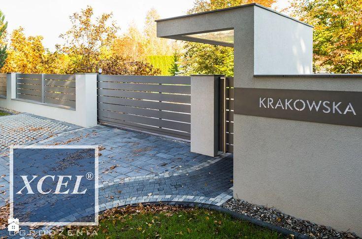 Nowoczesne ogrodzenie aluminiowe Horizon Massive Kraków - zdjęcie od XCEL Ogrodzenia