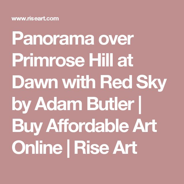 Panorama over Primrose Hill at Dawn with Red Sky by Adam Butler | Buy Affordable Art Online | Rise Art