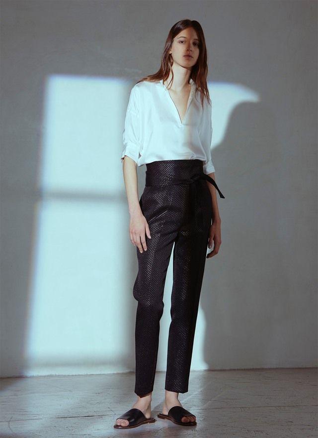 Camisa de seda blanca - Camisas y blusas | Adolfo Dominguez shop online