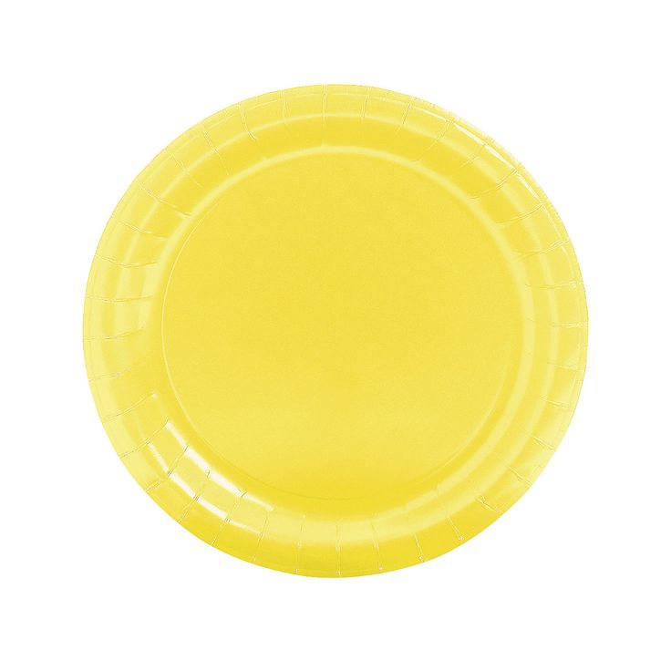 Round Mimosa Yellow Dinner Plates - OrientalTrading.com $3.50 - Qty 3 or more