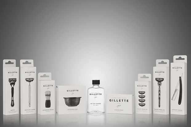 Gillette goes back to basic items in students packaging works at Broby Grafiska, Sunne, Sweden.
