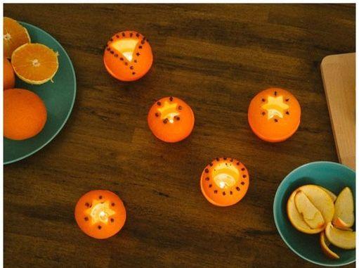Photophores avec des oranges