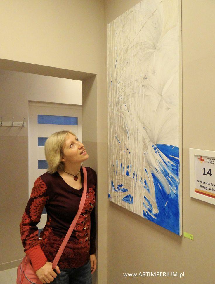 Anna Kossakowska na wystawie Danuty Nawrockiej
