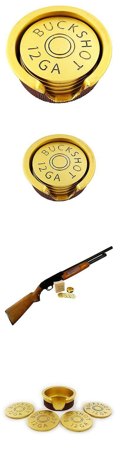 Coasters 36026: 12 Gauge Shotgun Shell Coaster Set Holder Drink Man Cave Decor Gun Gifts Men -> BUY IT NOW ONLY: $32.7 on eBay!