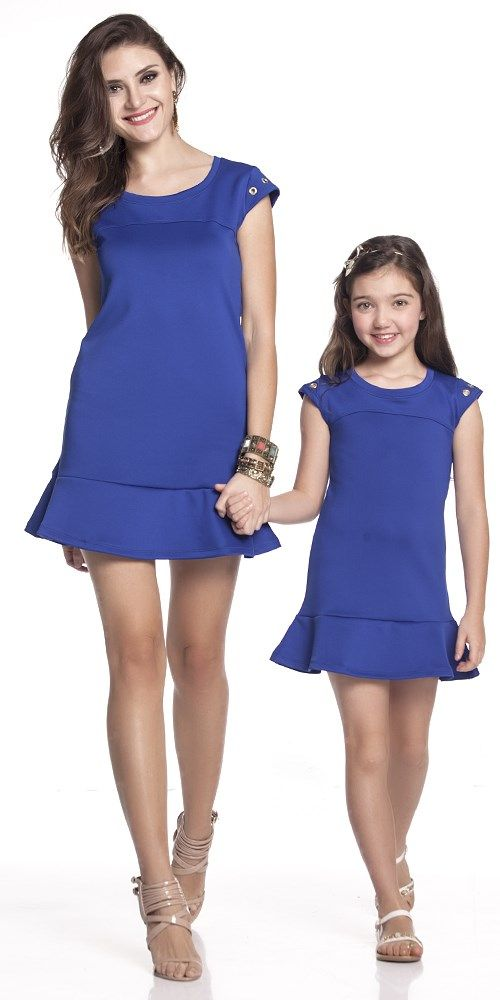 Vestido Babado Azul Adulto | OLIVIAS TAL MÃE TAL FILHA | Olivias
