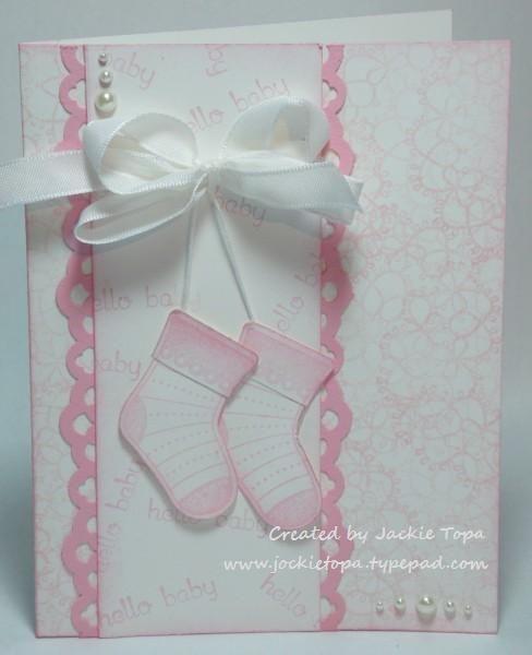 Открытки, скрапбукинг открытка с пинетками для новорожденного