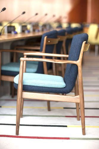 Finn Juhl's FJ51 Chair - designed for the Trusteeship Council Chamber in the UN-Building 1951
