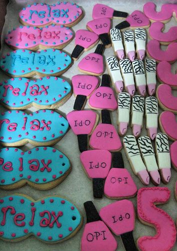Spa Party Cookies   Flickr - Photo Sharing!