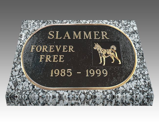 With our Curved Pet Headstone, you can memorialize your loved best friend forever.   All our Grave Markers are made to industry standards and regulations. Memorials.com has created a 5 Star Customer Service Rating Program for you to feel comfortable when purchasing from us. We are members of many trade organizations.