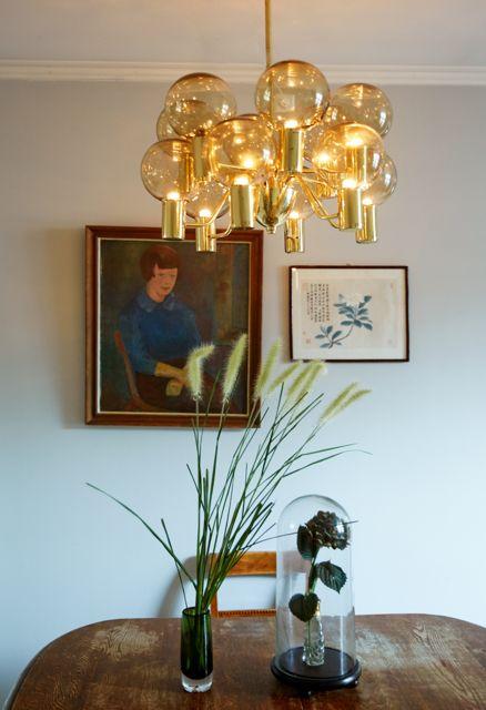 Hans Agne Jakobsson lamp, portrait made by my great grandfather. Reno Dynekilgata