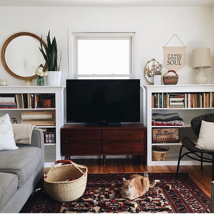 I love the feel of this, with or without the tv :)